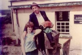 Cuz Teahan and young Mary Jones at Glountane in 1983