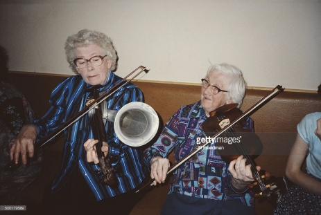 Julia Clifford and Bridgie Kelliher 1984