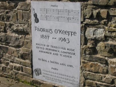The commemorative plaque at Glountane Cross