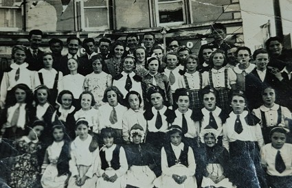 Fifth from the left, back row St. Joseph's School Feis 1945