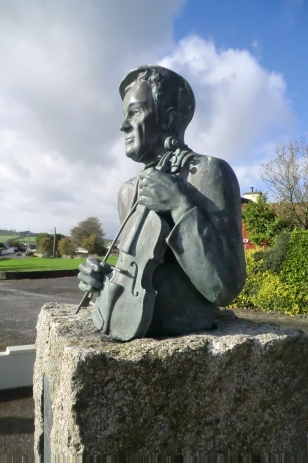 The Padraig O'Keeffe monument in Scart