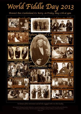 A poster of some of the notable fiddlers that have lived in or near Scartaglin