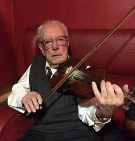 playing at his 96th birthday celebration