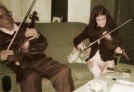 Maurice O'Keeffe with his granddaughter Eibhlín