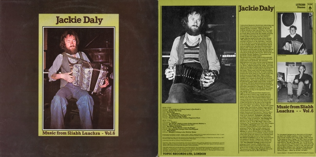 Jackie Daly Music from Sliabh Luachra front and back