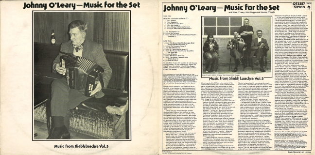 Johnny O'Leary Music for the Set front and back