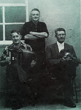 Johnny O'Leary, Dan O'Connell, and Mike Duggan in Knocknagree