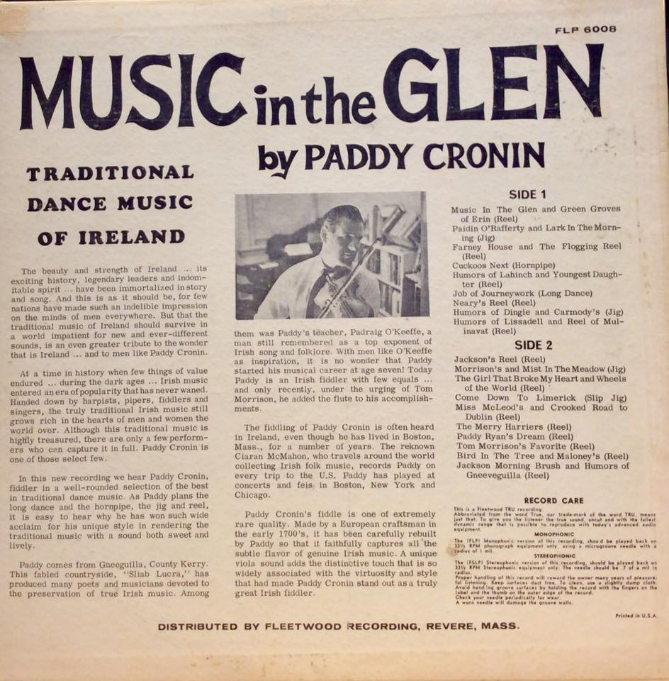 Paddy Cronin - Music in the Glen 2